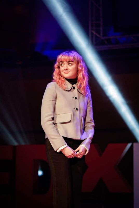 MAISIE WILLIAMS at Tedx in Manchester 02/03/2019