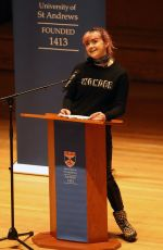 MAISIE WILLIAMS at University of St Andrews in Scotland 02/05/2019