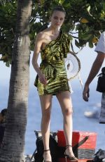 MARTHA HUNT on the Set of a Photoshoot in Ipanema 02/01/2019