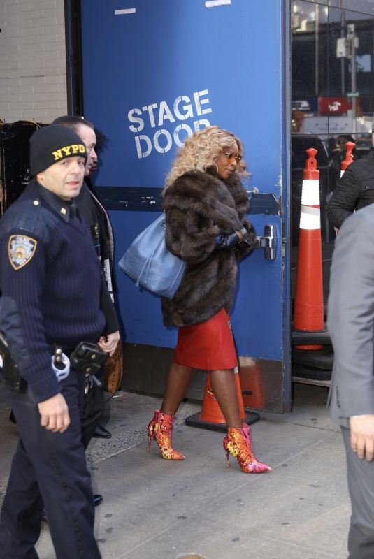 MARY J. BLIGE Leaves Good Morning America in New York 02/14/2019
