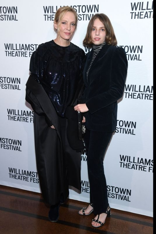 MAYA HAWKE and UMA THURMAN at Williamstown Theatre Festival Gala in New York 02/11/2019