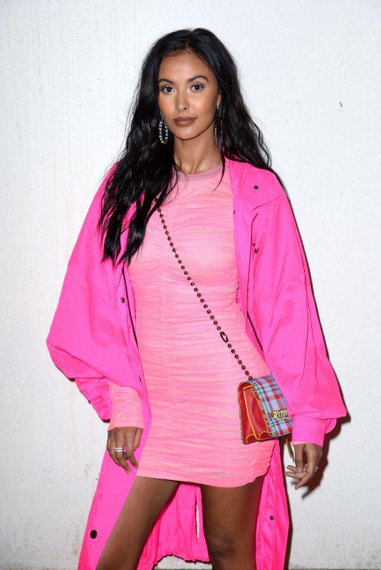MAYA JAMA at House of Holland Fashion Show in London 02/16/2019
