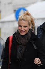 MICHELLE HUNZIKER Out and About in Milan 02/05/2019