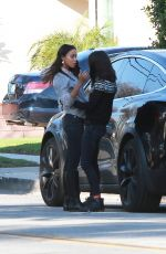 MILA KUNIS and ZOE SALDANA Out in Los Angeles 02/08/2019