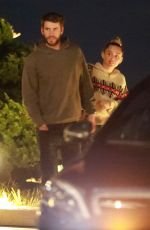 MILEY CYRUS and Liam Hemsworth at Nobu in Malibu 02/17/2019