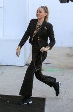MILEY CYRUS Arrives at Chanel Store in Los Angeles 02/22/2019