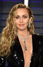 MILEY CYRUS at Vanity Fair Oscar Party in Beverly Hills 02/24/2019