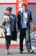 MILLA JOVOVICH and Paul Anderson Leaves a Gym in Los Angeles 02/11/2019