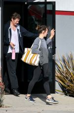 MILLA JOVOVICH and Paul W.S. Anderson at Trampoline Gym in Los Angeles 01/29/2019
