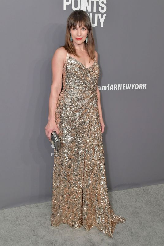 MILLA JOVOVICH at Amfar New York Gala 2019 02/06/2019