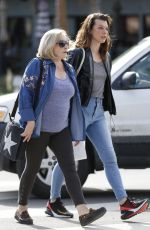 MILLA JOVOVICH Out Shopping with Her Mom in West Hollywood 01/23/2019