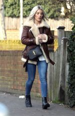 MOLLIE KING Out and About in Londond 01/31/2019