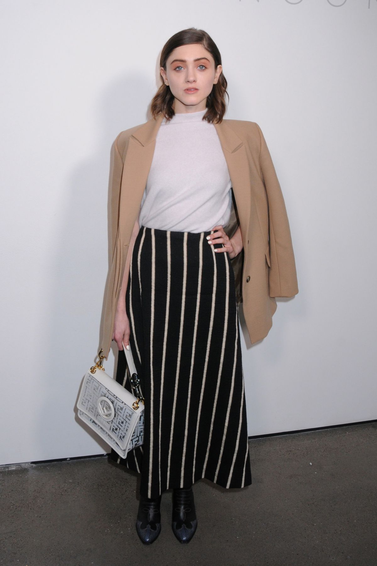 NATALIA DYER at Noon by Noor Show at New York Fashion Week 02/07/2019