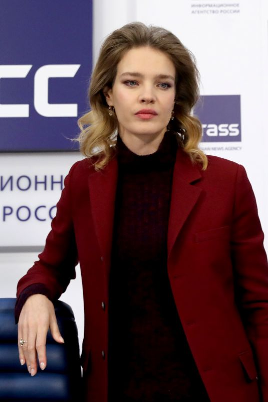 NATALIA VODIANOVA at a Press Conference in Moscow 02/05/2019