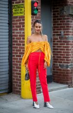NATHALIE KELLEY Out at New york Fashion Week 02/10/2019