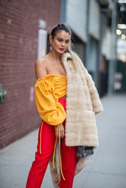 NATHALIE KELLEY Out at New york Fashion Week 02/10/2019