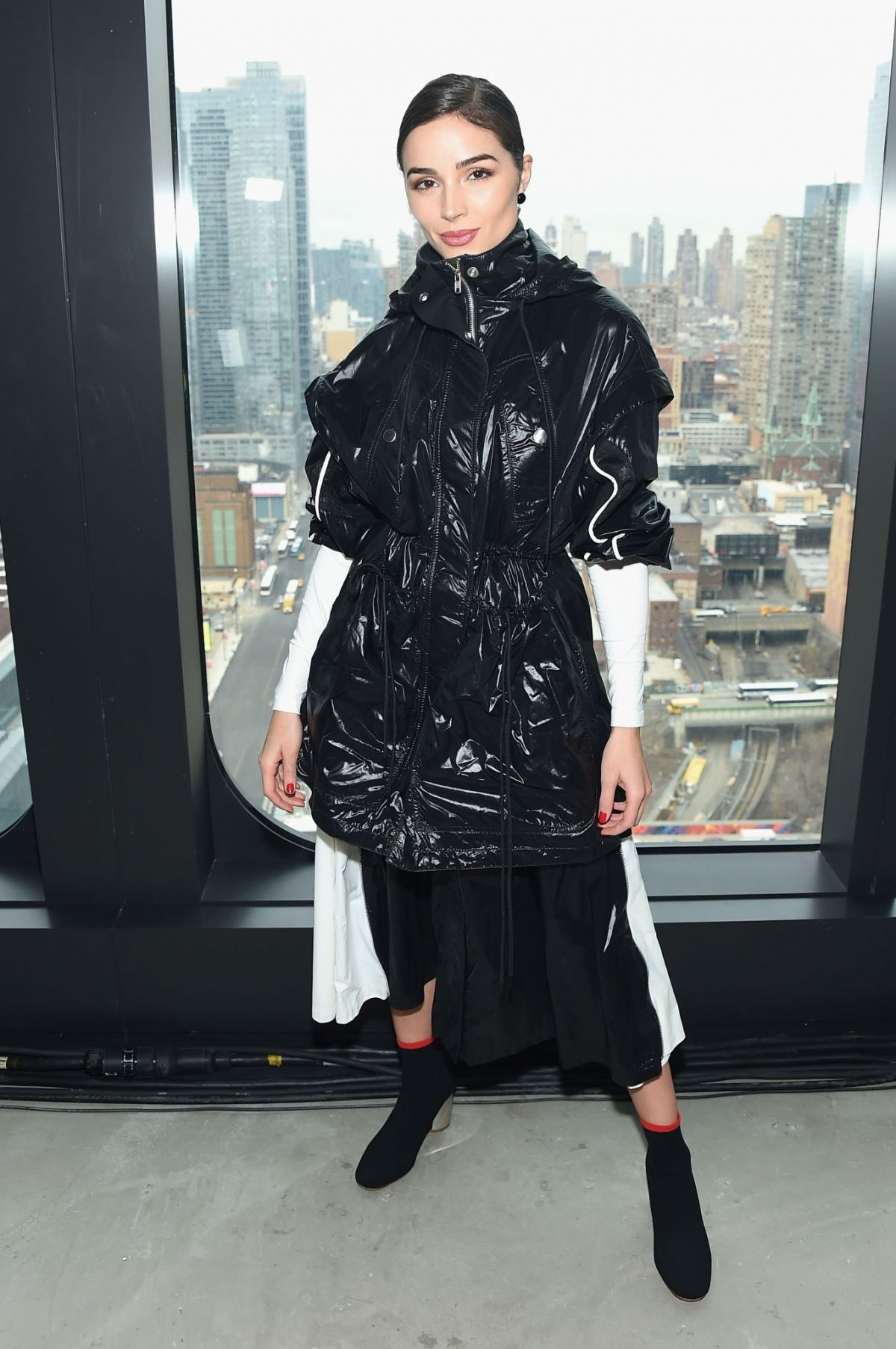 olivia culpo at proenza schouler show at new york fashion