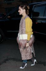OLIVIA PALERMO Arrives at Jonathan Simkhai Show at New York Fashion Week 02/09/2019