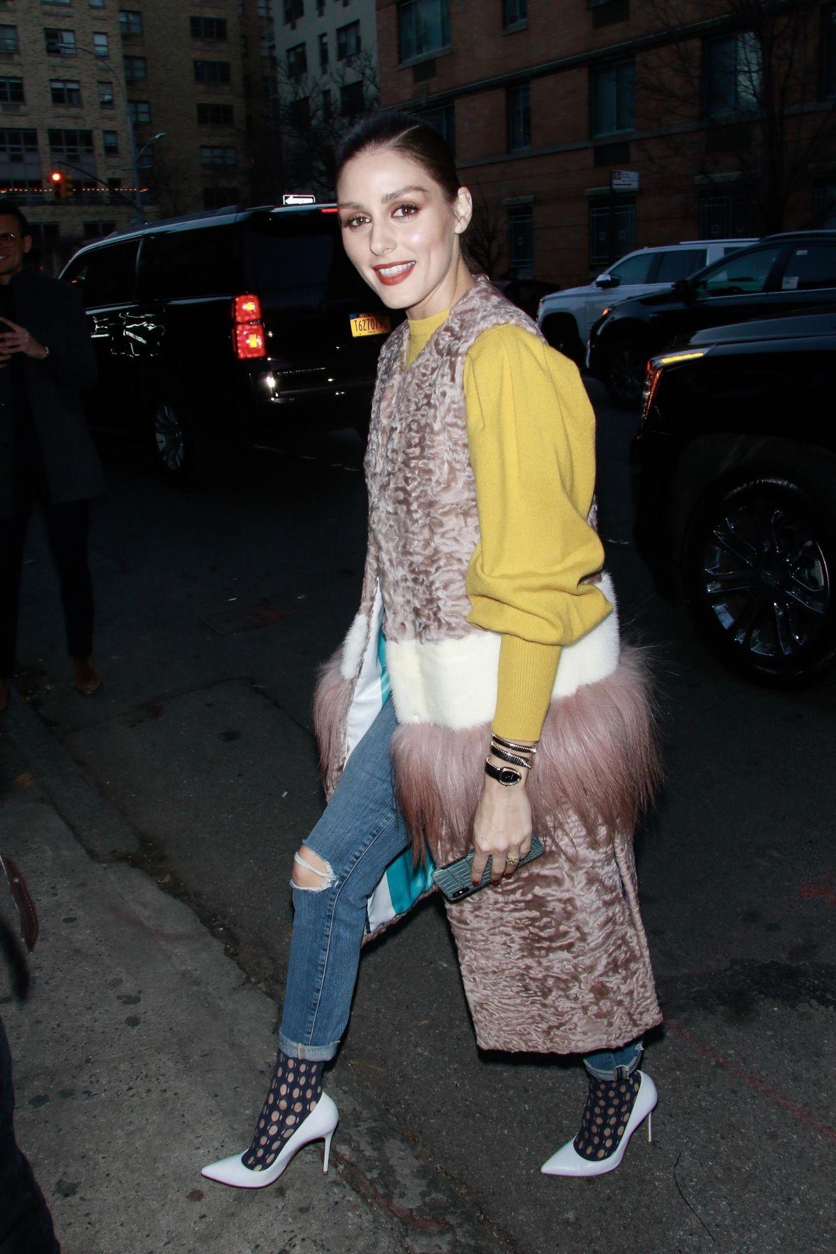 OLIVIA PALERMO Arrives at Jonathan Simkhai Show at New York Fashion Week 02/09/2019