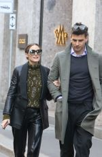 OLIVIA PALERMO Shopping at Fratelli Rossetti Boutique in Milan 02/24/2019