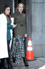 OLIVIA WILDE Leaves Michael Kors Fashion Show in New York 02/13/2019