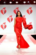 PADMA LAKSHMI at Aha Go Red for Women Red Dress Collection 2019 in New York 02/07/2019