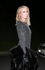 PARIS HILTON Arrives at a Pre-oscar Party in Beverly Hills 02/23/2019