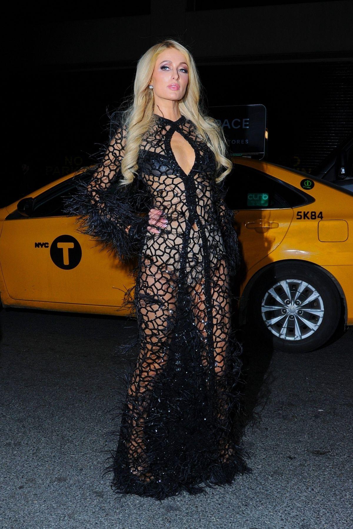 6a18a4d930 PARIS HILTON Arrives at PhilippPlein Fashion Show in New York 02/11/2019