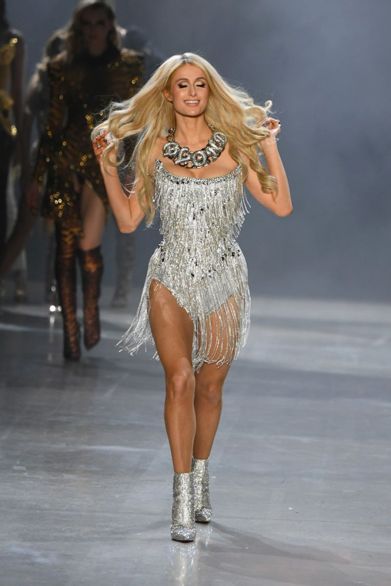 32896a5c78 PARIS HILTON at The Blonds Runway Show at New York Fashion Week 02/12/