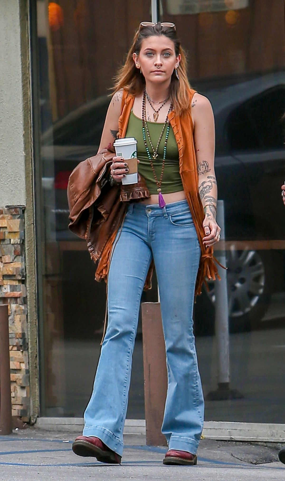 Paris Jackson And Gabriel Glenn Out For Coffee In