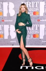 Pregnant ABIGAIL ABBEY CLANCY at Brit Awards 2019 in London 02/20/2019