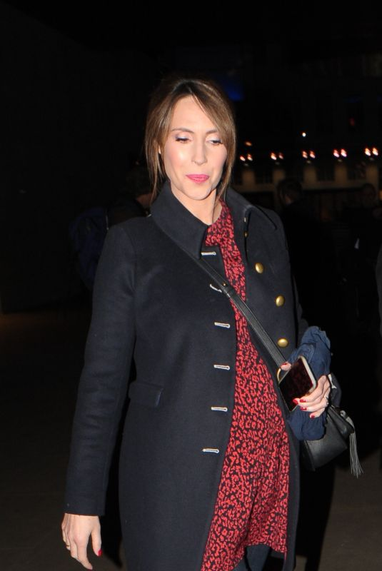 Pregnant ALEX JONES Leaves The One Show in London 02/13/2019