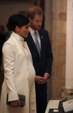 Pregnant MEGHAN MARKLE and Prince Harry at The Wider Earth in London 02/12/2019