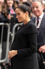 Pregnant MEGHAN MARKLE at Association of Commonwealth Universities at City in London 01/31/2019