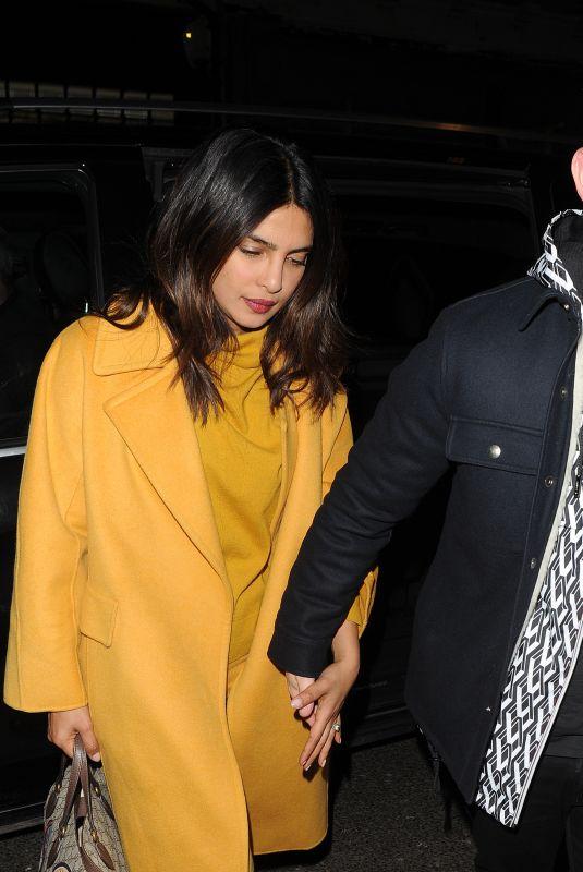 PRIYANKA CHOPRA and Nick Jonas at Arts Club in London 02/15/2019