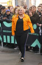 REBEL WILSON Leaves AOL Build in New York 02/08/2019