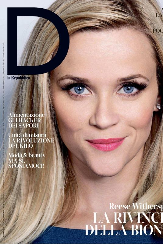 REESE WITHERSPO in D LA Repubblica, February 2019