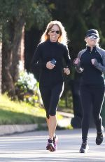 REESE WITHERSPOON Out Jogging in Los Angeles 02/12/2019