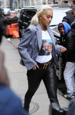 RITA ORA Out and About in New York 02/13/2019