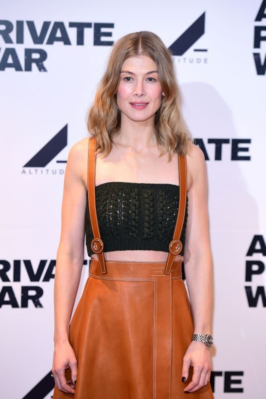 ROSAMUND PIKE at A Private War Screening in London 02/04/2019