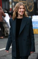 ROSAMUND PIKE Out and About in London 01/31/2019