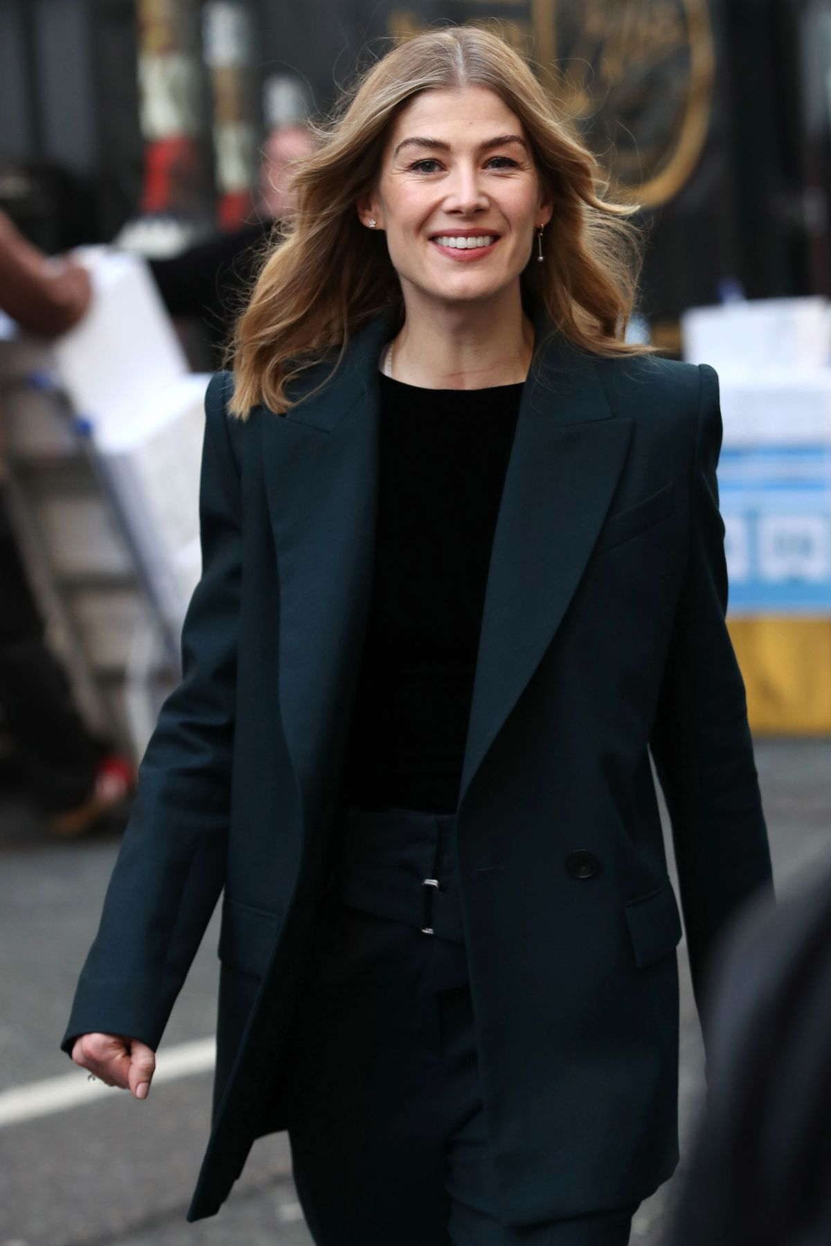 ROSAMUND PIKE Out and About in London 01/31/2019 - HawtCelebs