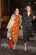 ROSE WILLIAMS and SYNNOVE KARLSEN Leaves Vanity Fair EE Rising Star Party in London 31.01.2019