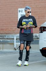RUBY ROSE Shows off New Color Hairdo Out in Los Angeles 01/31/2019