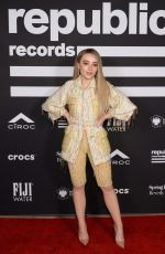 SABRINA CARPENTER at Republic Records Grammys After-party in Los Angeles 02/10/2019