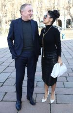 SALMA HAYEK at Bottega Veneta Show in Milan 02/22/2019
