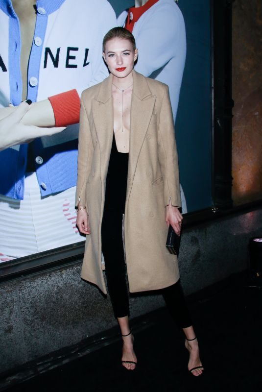 SANNE VLOET Night Out in New York 02/08/2019