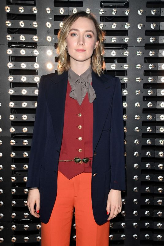 SAPIRSE RONAN at Gucci Fashion Show in Milan 02/20/2019