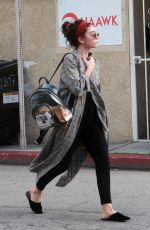 SARAH HYLAND Out and About in Los Angeles 02/20/2019