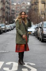 SARAH JESSICA PARKER on Divorce Set in New York 02/06/2019